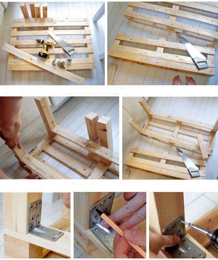 Construye tu mueble con palets manos a la obra for Sofa de palets paso a paso