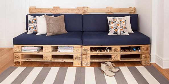 Construye tu mueble con palets manos a la obra - Faire banquette avec palettes ...