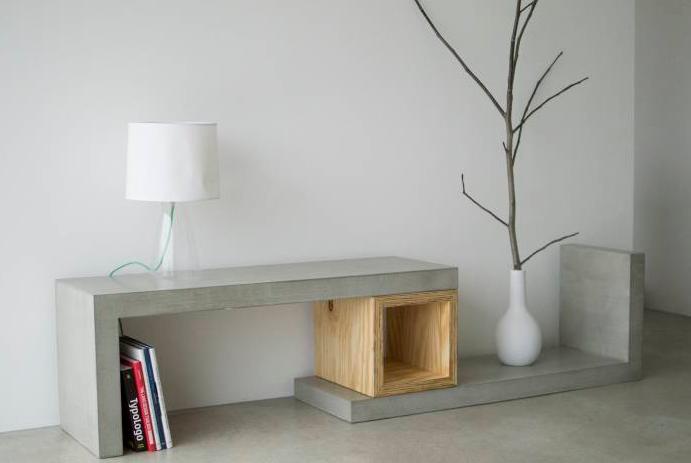 14 incre bles ideas para hacer muebles de concreto t for Cera de hormigon para azulejos de bano