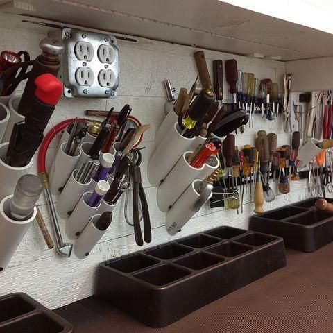 Elabora un organizador de herramientas casero con tuber as for Herramientas para desatascar tuberias
