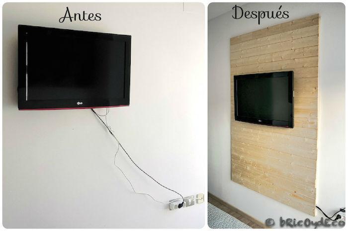 C mo hacer un panel de madera para ocultar los cables de - Tv en la pared ...