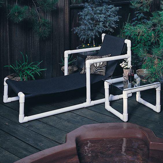 Construye un incre ble mueble para tu terraza utilizando for Muebles terraza pvc