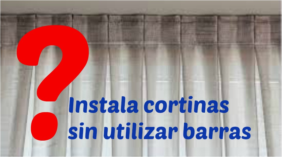 C mo instalar una cortina sin barra manos a la obra - Como colgar unas cortinas ...