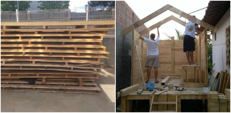 C mo hacer tu propia casa a base de pallets manos a la obra - Construir tu propia casa ...