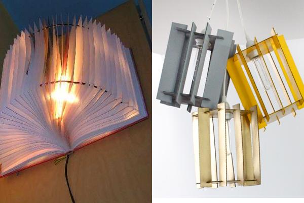 6 ideas muy originales para elaborar tu propia l mpara - Lamparas originales de techo ...