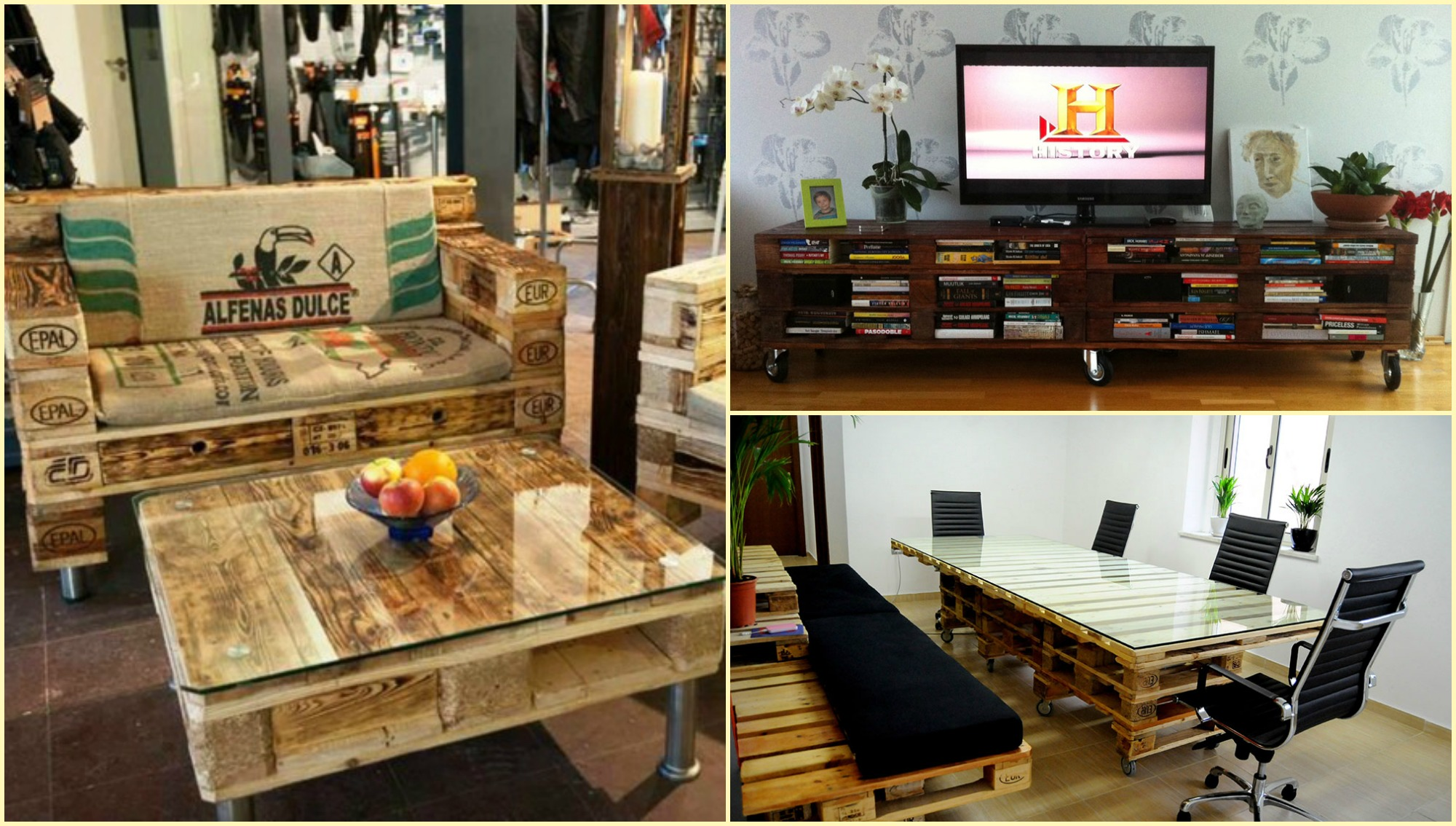 10 ideas para convertir PALLETS en increíbles muebles – Manos a la Obra