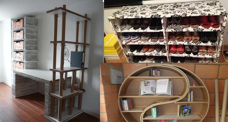 20 ejemplos de hacer muebles con s lo usar cart n manos for Hacer muebles con carton