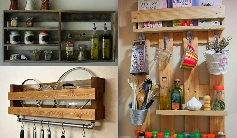 Más de 10 ideas para hacer en tu cocina usando palets! – Manos a la Obra