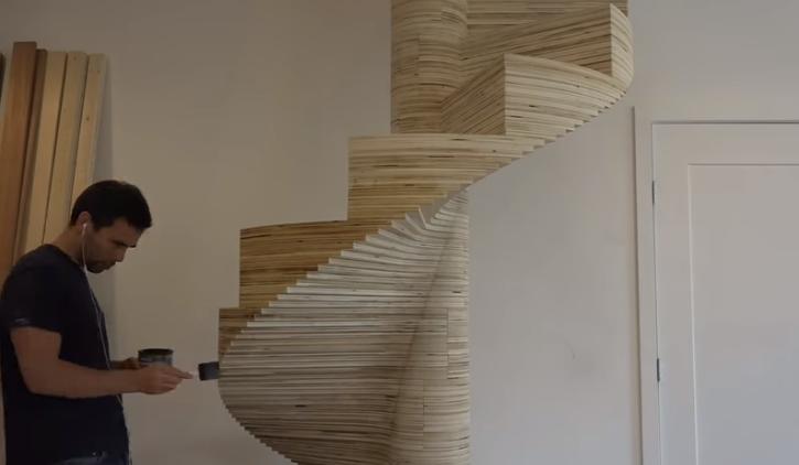 Aprende a hacer una escalera caracol de maderas manos a Como hacer una escalera caracol