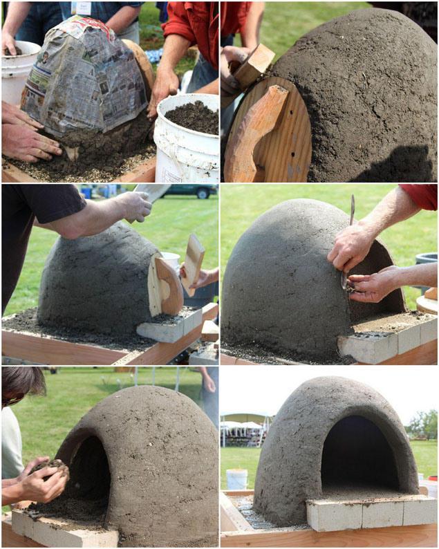Mira como se construy este horno de barro en solo una - Rejillas de barro ...