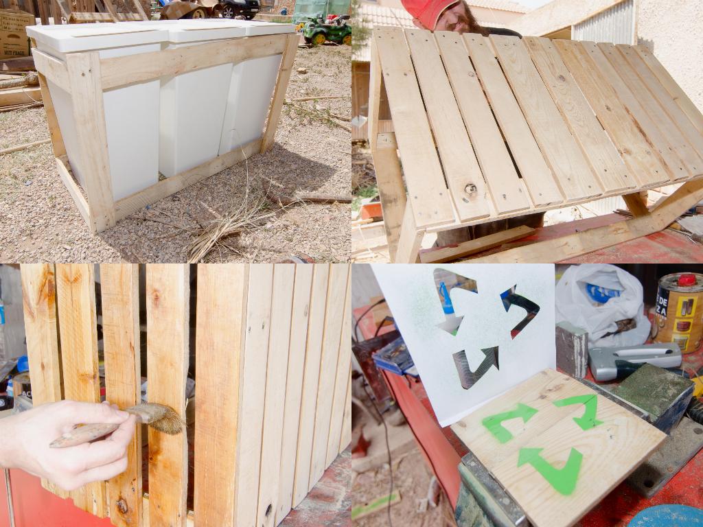 Reciclaje de palet simple muebles con palets with - Reciclaje de pales ...