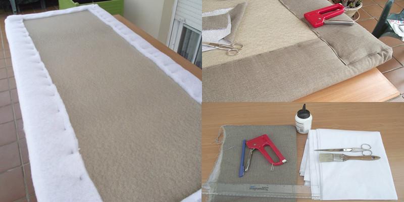 Mira como se realiza este hermoso tapiz amoblado para la - Como tapizar un cabecero de cama ...