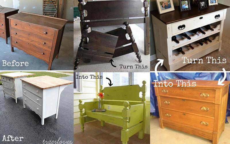 8 ejemplos para transformar tu viejos muebles en algo - Transformar muebles viejos ...