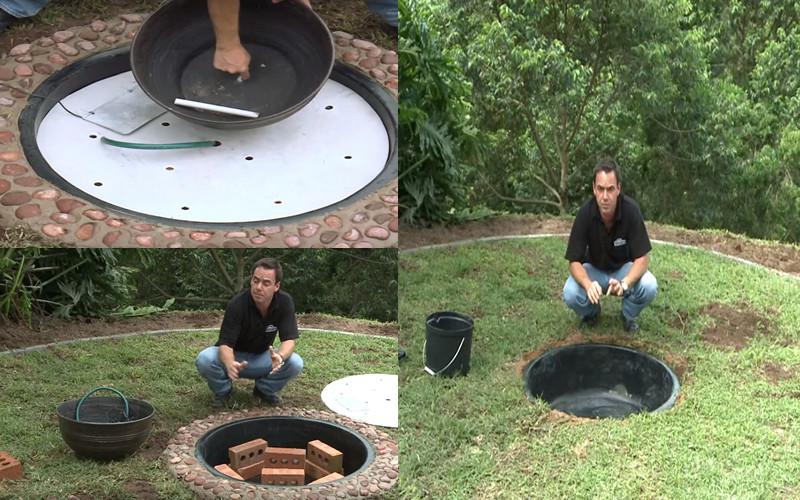Una excelente idea para recrear una fuente sin mucho costo - Como hacer una fuente de jardin ...