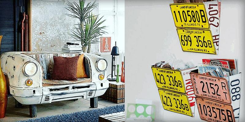 12 ideas para convertir partes de autos en muebles para la casa ...