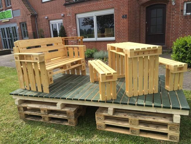 13 Muebles De Pallets Para Colocar En Tu Jardín O Terraza Y