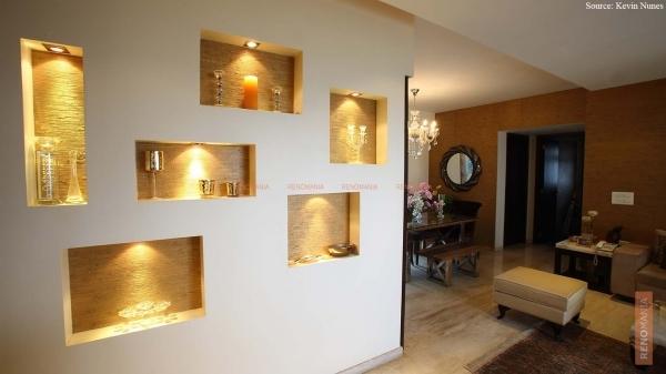 14 nichos en la pared para su sala manos a la obra. Black Bedroom Furniture Sets. Home Design Ideas