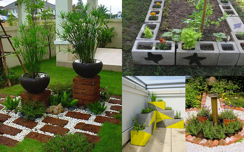 Mira estos 10 buen simos usos de ladrillos para tu jard n for Como arreglar mi jardin con piedras