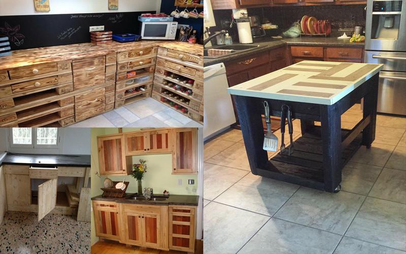 Cuando Usamos Pallets En Muebles De Cocina Que Diseñamos Con Nuestras  Propias Ideas Creativas, Siempre Hay Una Fuente Inagotable De Ideas Para  Trabajar Con ...