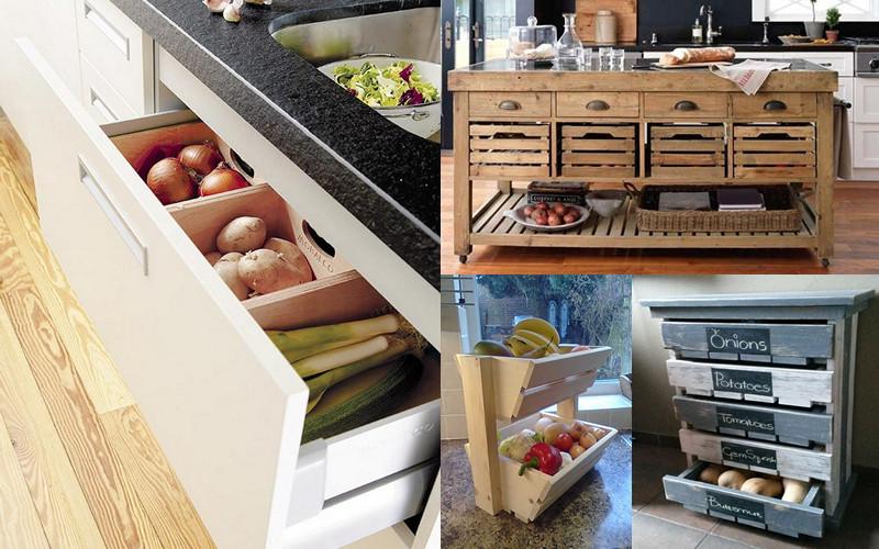 15 fabulosas ideas para almacenar fruta en la cocina - Ideas para reformar la cocina ...
