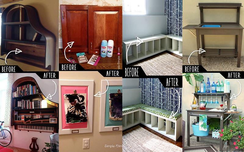 Al ver el antes y el despu s de estos muebles no podr s - Pintar muebles de cocina antes y despues ...