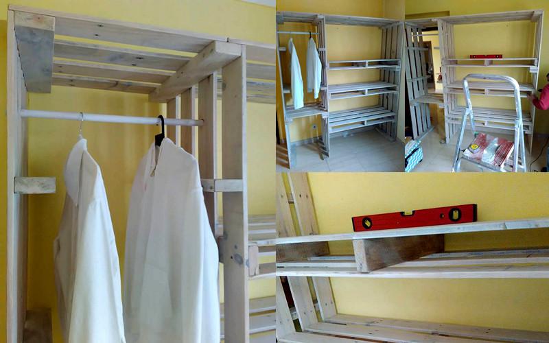 Pallet armario para habitaciones peque as manos a la obra for Armarios para habitaciones pequenas