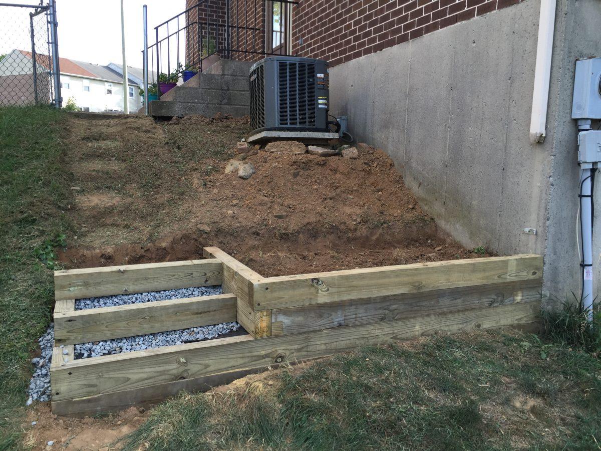 escaleras para jardin