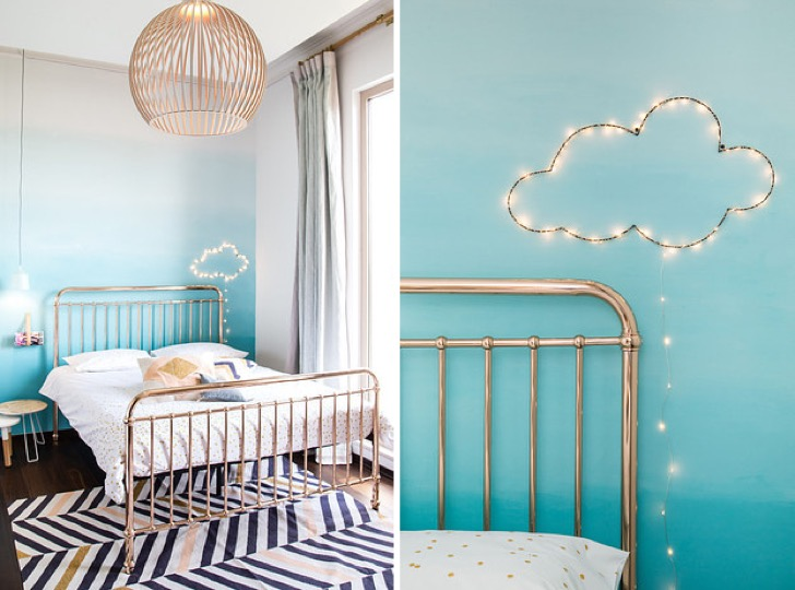 14 ideas para decorar una pared de tu cuarto y darle ese for Luces para decorar habitaciones