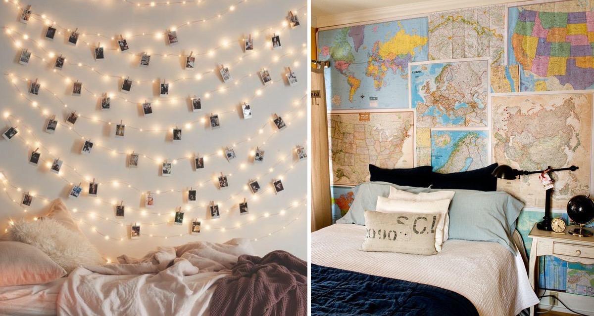 14 ideas para decorar una pared de tu cuarto y darle ese for Ideas para decorar habitacion con fotos