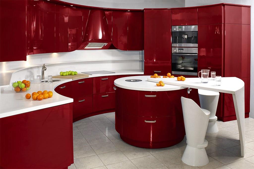 7 Estilos Para Novedosas Combinaciones Con Tu Cocina Y Muebles Hoy - Cocinas-en-rojo