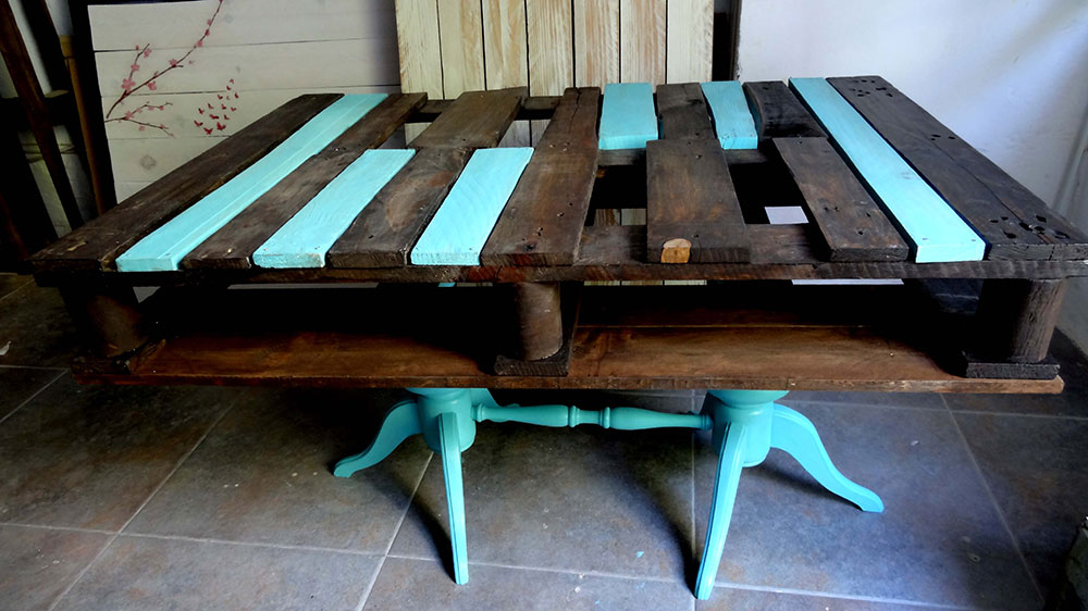 Mesas hechas con palets best mesa y silla para nios - Mesas hechas con palets ...