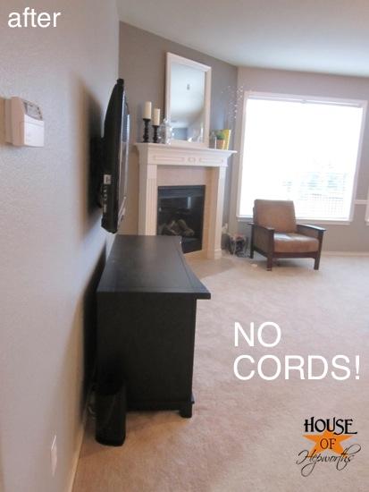 aprende esta genial forma para ocultar cables de tu tv en la pared manos a la obra. Black Bedroom Furniture Sets. Home Design Ideas