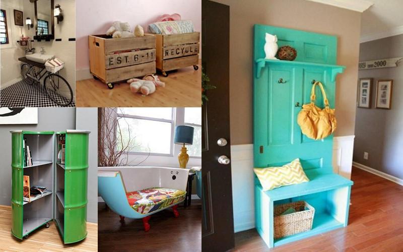 12 incre bles muebles reciclados con materiales ins litos - Muebles originales reciclados ...