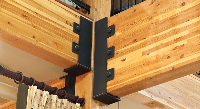 Mira estos de ejemplos de c mo hacer uniones de vigas y - Vigas redondas de madera ...