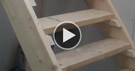 Construye tu propia escalera de madera como todo un - Como hacer escalera de madera ...