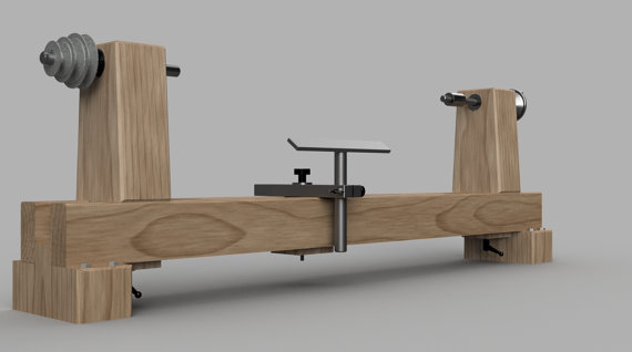 Aprende hacer un torno casero en tu taller con estos for Costruire tornio legno