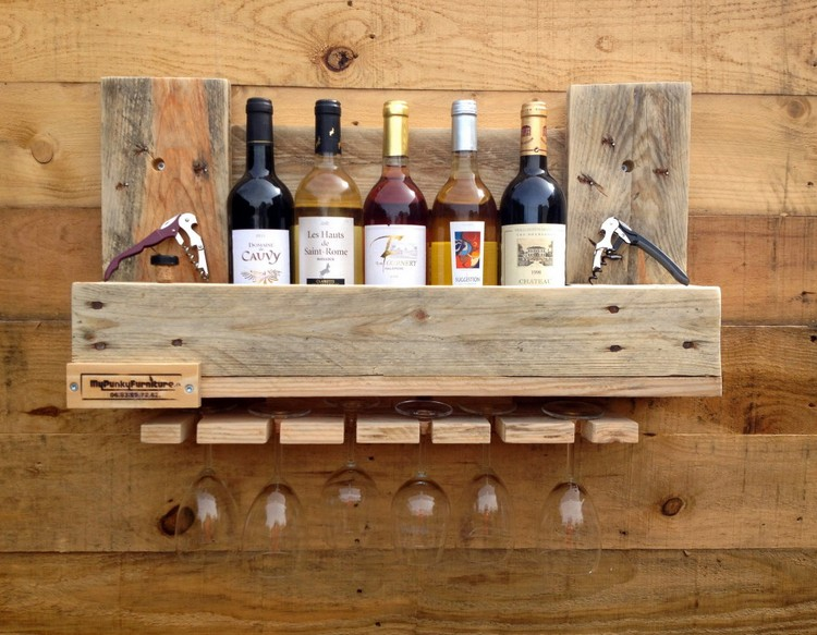 "This image provided by 1001 Pallets shows a wine rack from a website, 1001pallets.com, where crafters can share pictures of their wood pallet projects. Dimitri Boulze, who with Quentin Jeandel, both of Toulouse, France, started 1001 Pallets, speculates the combination of recycling and creativity fuels this crafting trend. ""On one side people are realizing that resources are finite and that recycling can help with saving things and money,"" says Boulze. ""And then it gives them a goal to create something and it's something very positive."" (1001 Pallets via AP)"