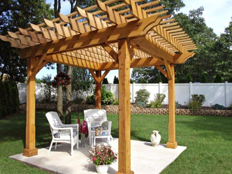 Postes de madera para pergolas finest casas porches - Postes para pergolas ...