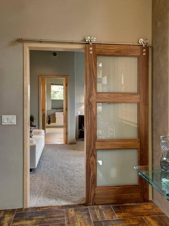 14 ideas para una puerta corrediza de ensue o en casa