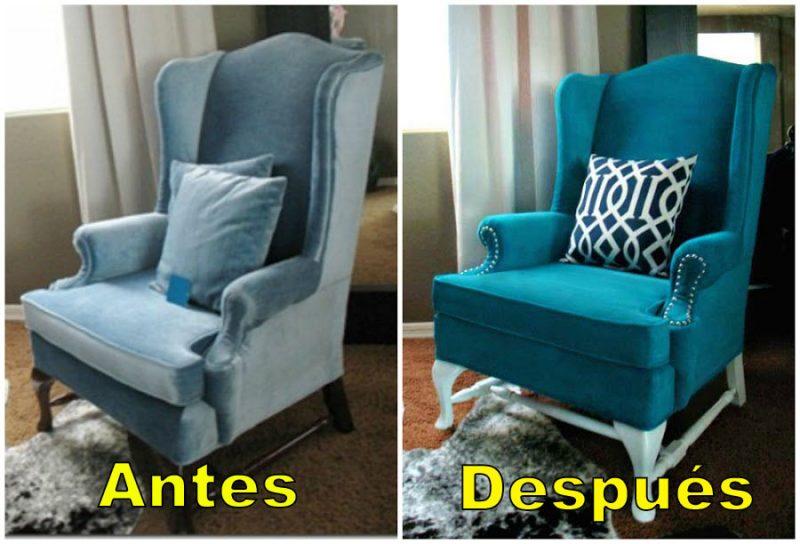 Cons guele un cambio radical al tapizado de tus sillones o - Tapizar sillon paso a paso ...