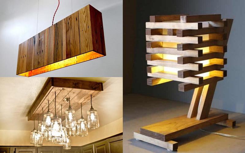 6 tipos de l mparas hechas de pallets y madera que puedes - Lamparas con palets ...