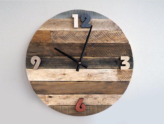 Lo m s pedido mira y aprende c mo fabricar un reloj - Relojes rusticos de pared ...