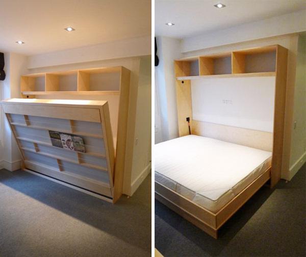 11 formas para realizar camas desplegables en habitaciones - Tres camas en habitacion pequena ...