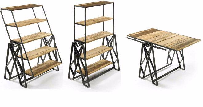 9 ideas para muebles multiusos que tu puedes aprovechar al for Muebles poco espacio