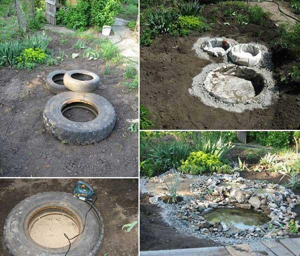 estanque de neumticos reciclados