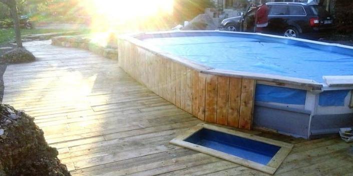 Mira c mo se puede armar una piscina prefabricada en tu for Como se construye una piscina de concreto