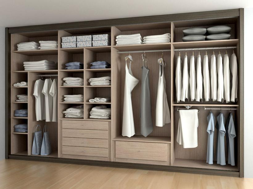 Aprende la forma m s f cil de colocar baldas y barras en - Revestir armario empotrado ...