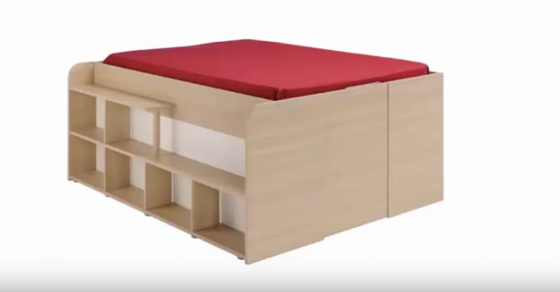 Una cama mueble con todo incluido? Si tienes un espacio pequeño esta ...