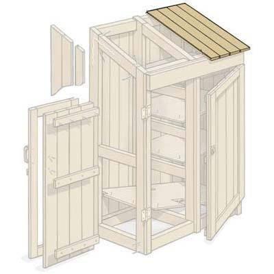 C mo construir un armario de herramientas de jard n for Armario herramientas jardin