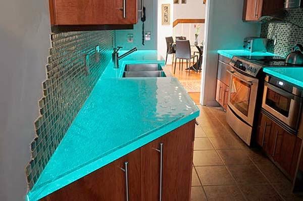 15 im genes impactantes de modernos y elegantes muebles de - Cocinas con bloques de vidrio ...